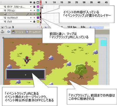 Fla画面1 ゲームクリップ内