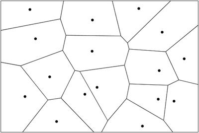 図1 ボロノイ図