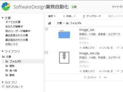 図2 image_set.zipが解凍されてimage_setという解凍フォルダが作成される
