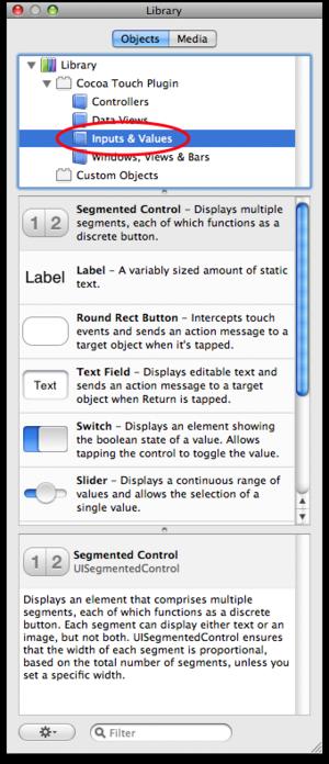 InterfaceBuilder & Library