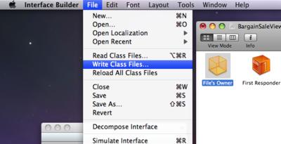 [File]→[Write Class Files...]でファイルに書き出す