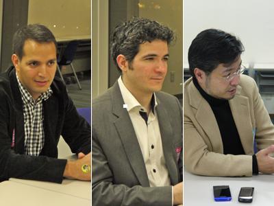 左:Hamid Zaidi氏 中央:Cyril Chaib氏 右:山下 哲也氏