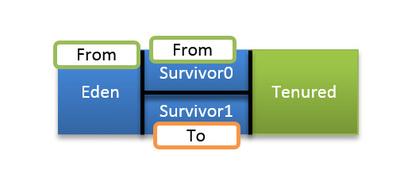 図3 1回目のマイナーGCでの各領域の役割
