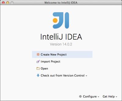 図3 IntelliJ IDEAの最初の起動