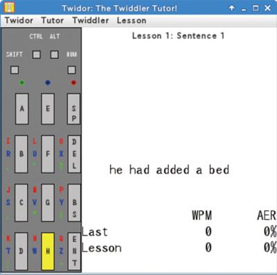 図2 Twiddler 2.1の練習ツール