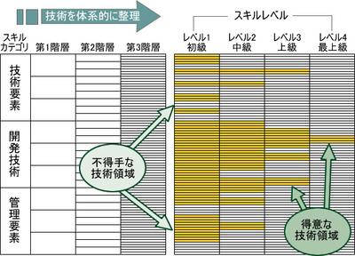 図1 スキル診断結果イメージ