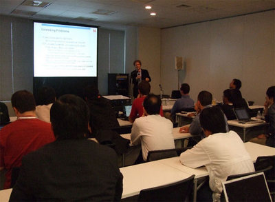 LinuxCon Japan/Tokyo 2010のJames Bottomley氏のセッションの模様