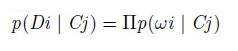 ドキュメントiがカテゴリjに出現する確率
