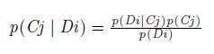 カテゴリjがドキュメントiに出現する確率