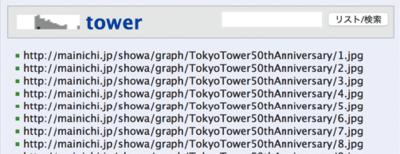 図3 URLのリスト