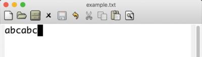 図2 Emacsでabcabcと入力