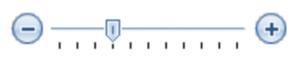 図2 ボタンで微調整可能なスライダ