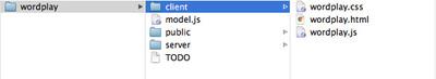 図1 wordplayサンプルのプロジェクトディレクトリ