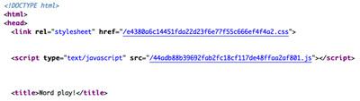 図4 本番環境でのHTMLソースコード