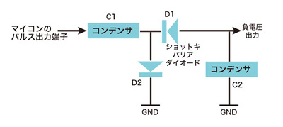 図6 負電源発生回路(SH7706LSR簡易版)