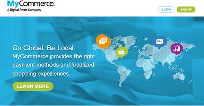 ソフトウェアのオンライン販売に必要となる機能を網羅した「MyCommerce」。多国語対応,多通貨対応を果たしているほか,各国・地域の税制などにも対応している。これにより,グローバルに自社製品を販売できるのが特長だ