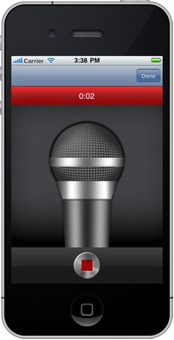 図2 navigator.device.capture.captureAudio()でレコーダーアプリを起動