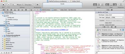 Xcodeを起動し,ファイルツリーを確認
