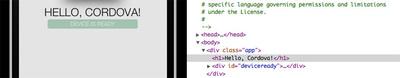 DOMやCSSの書き換えも可能。DOM選択時は,iPhoneシミュレータ/実機側で選択部分がハイライトされる