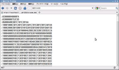 図2 アセンブラプログラムにより生成された機械語(バイナリ)