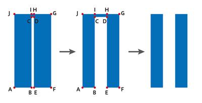 図5 方法2:BCとDEは相殺される