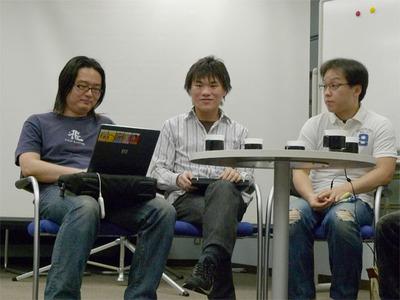 左から,保坂範行さん,稲田さん,柴田さん。