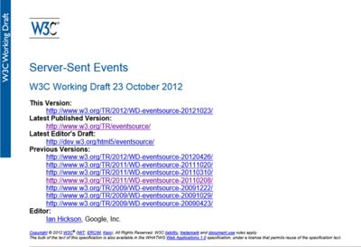 図3 W3CによるServer-Sent Events仕様