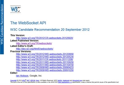 図4 W3CによるWebSocket仕様