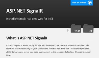 図6 ASP.NET SignalR公式ページ