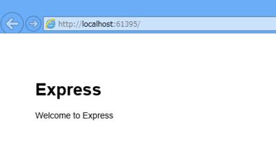 図5 「Expressサイト」のデフォルトページ