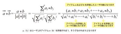図1 コサイン関数を使った類似度の計算