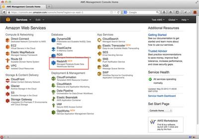 図2 AWSサービス一覧画面