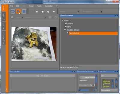 トラッキング画像に対して,適切なサイズ,位置,向きで3Dオブジェクトが表示される