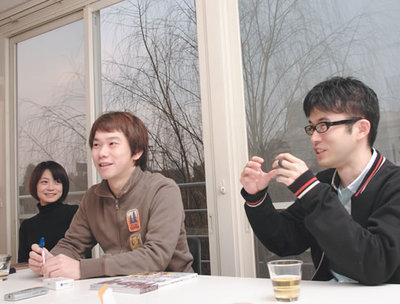 3人はザ・ストリッパーズの創業メンバー(写真:上松尚之)
