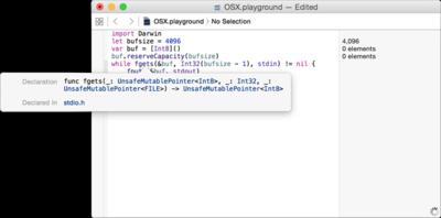 図3 [Option]+クリックでXcodeが教えてくれる