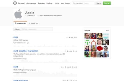 図2 github.com/apple