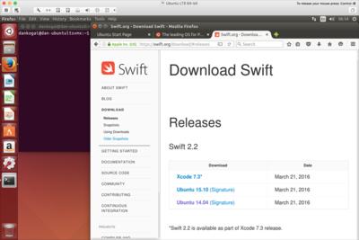 図1 Swift 2.2リリース