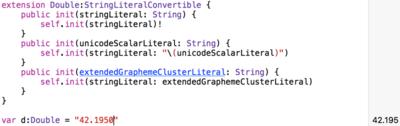 図2 Doubleの変数をStringで初期化