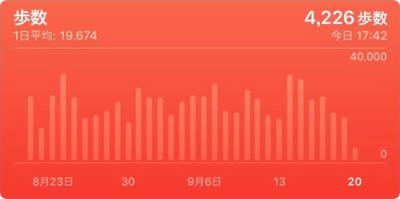 図3 20,000歩/日も歩く体のログ