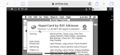 図3 なつかしのHyperCardをiPhone Xで