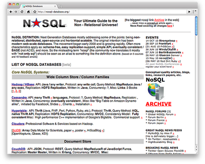 図1 NoSQL Databases