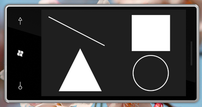 図1 Silverlight for Windows Phoneでの代表的なShapeオブジェクト