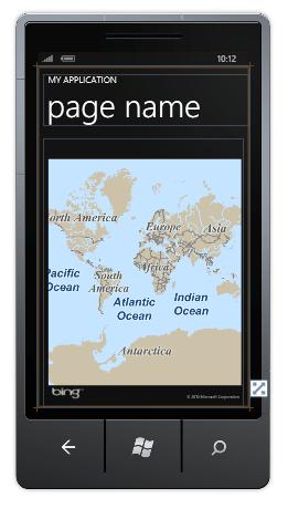 図5 Bing Maps コントロール