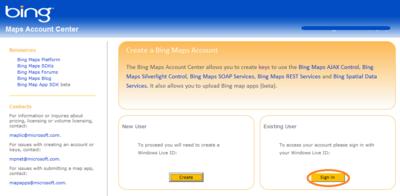 図2 既にWindows Live IDがある場合は「Sing in」を