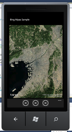 図1 ズームレベルを10にした場合の航空写真