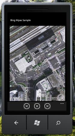 図2 ズームレベルを18にした場合の航空写真