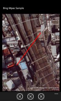 図5 地図上に線を引いてみた例