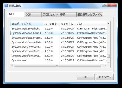図1 System.Windows.Formsの参照
