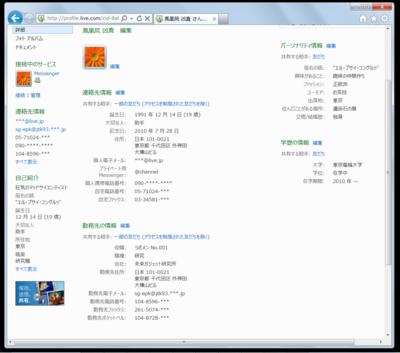 図1 ユーザープロフィール