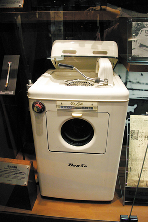 デンソー初期のころには洗濯機も作っていました。非常にオシャレ★